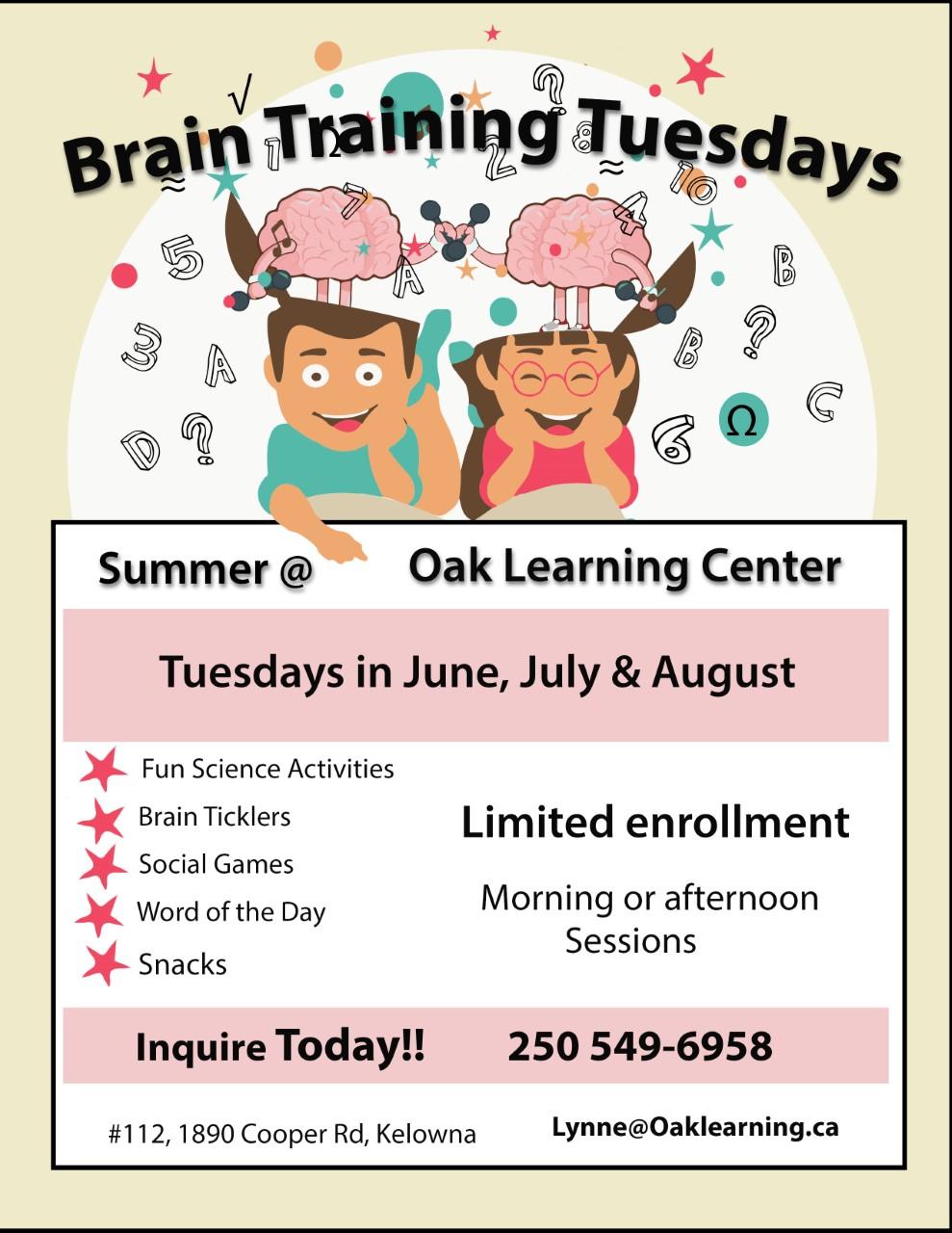 Large Brain Poster Tuesday Summer Kelowna