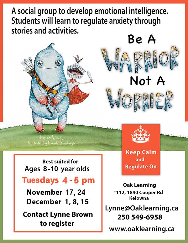 Be a Warrior Poster Kelowna Nov to Dec 2020