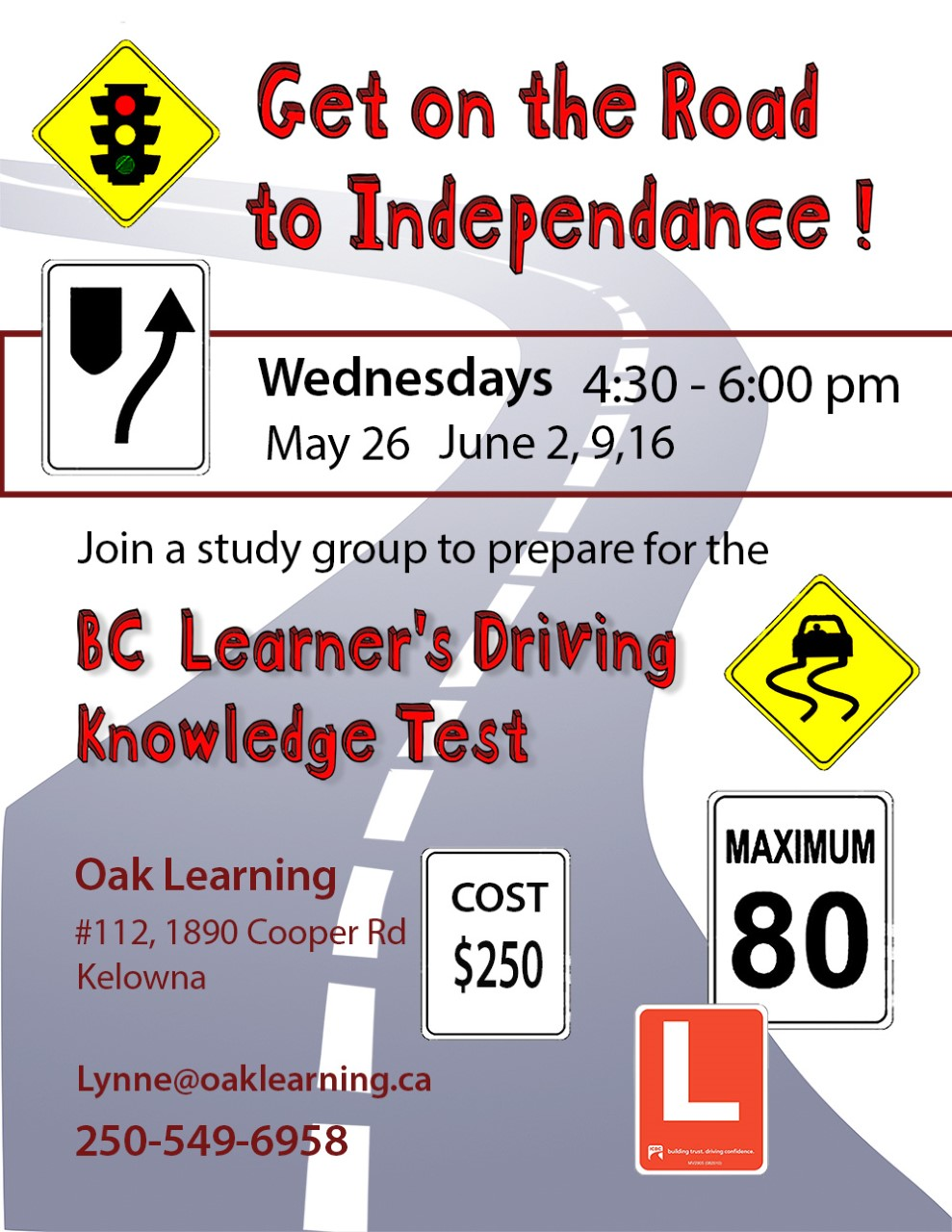 Road to Independance Driving Poster